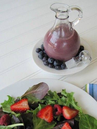 Blueberry Pomegranate Salad Dressing- simple and delicious!