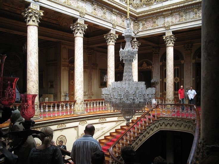Dolmabahce Baccarat bannister - Dolmabahçe Palace - Can you see the crystal ballasters on the staircase. Incredible, ms