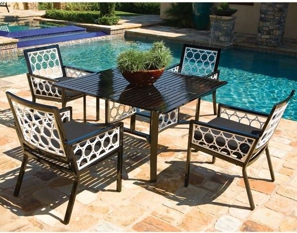 Patio Furniture Set Made Of Black White Aluminum Of Large Selections Of Modern  Furniture Raleigh,