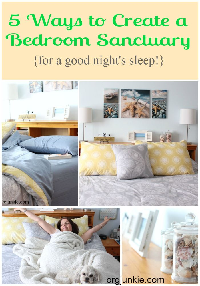 Do you struggle with getting enough sleep each night?  These 5 tips for creating a bedroom sanctuary might help you get the healthy sleep you need