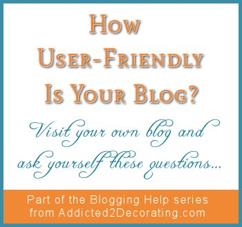 blogging help-how user friendly is your blog - main
