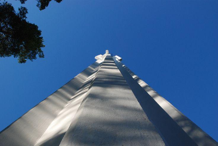 #Imatra, #Finland, Church of the Three Crosses by Alvar Aalto, bell tower by Maija S.