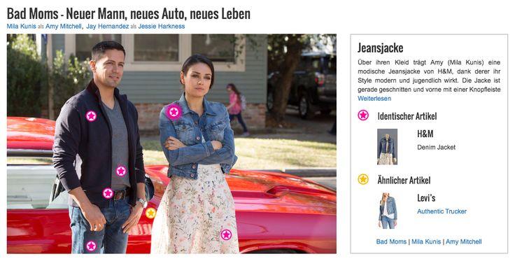 Über ihren Kleid trägt Amy (Mila Kunis) eine modische Jeansjacke von H