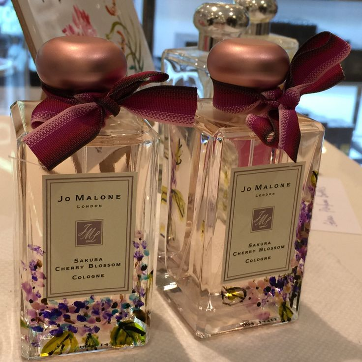 A painted pair of Jo Malone's Sakura Cherry Blossom Cologne