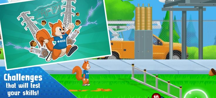 Help your kids learn about electricity and its principles with this gamified #edutainmentapp. The game involves Zappy squirrel trying to escape at the metropolis electric station. Make him jump, run and climb and surpass the dangers faced by him.     The #development of this game involves a series of deterrents  placed by Eddy, a well known engineer and entrepreneur. This mind boggling #game was developed for #IEEE by us. When it comes to games our services are up for the challenge.