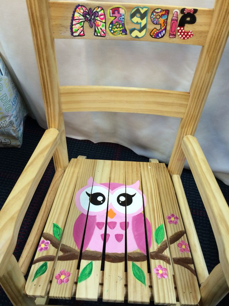 baby shower owl rocking chair  Painting  Pinterest  Babies, Baby ...