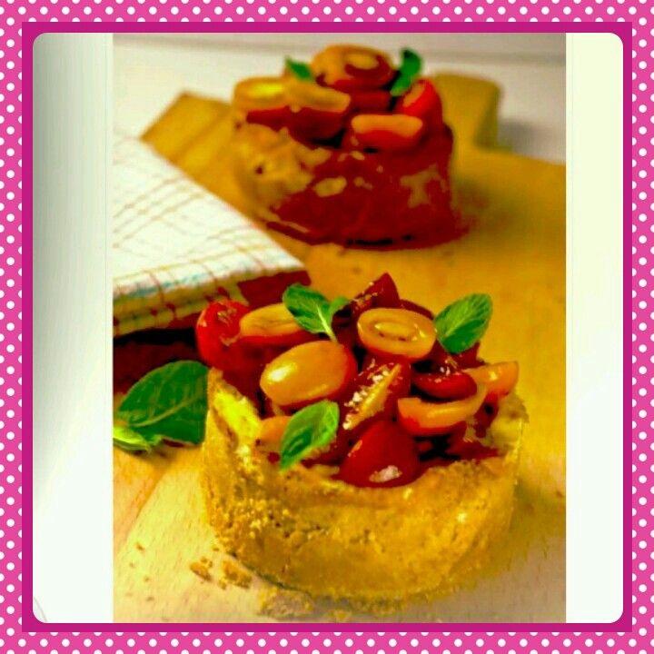 Domatesli cheesecake..www.pelinlemutfaksohbeti.com