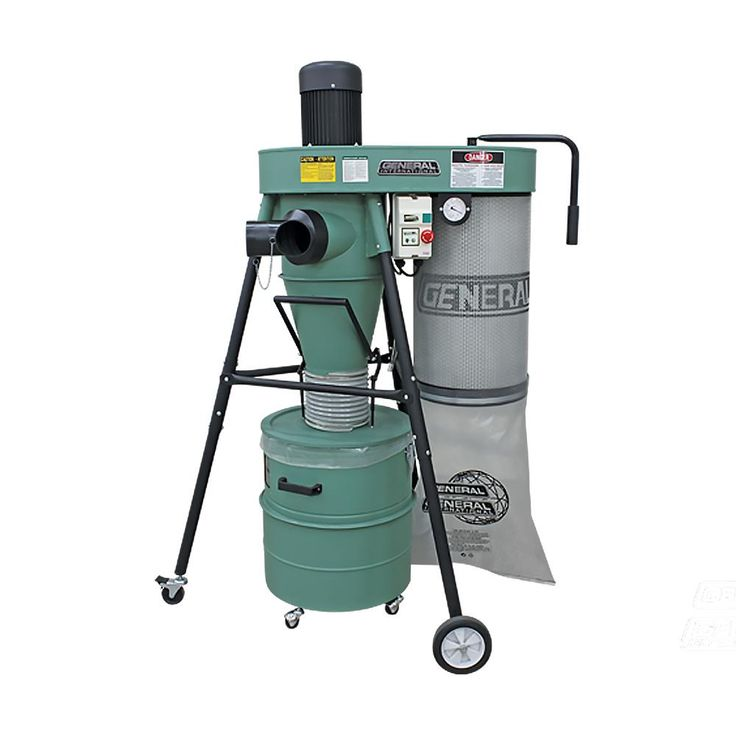 General International 1.5 HP Mobile 2-Stage Dust Collector