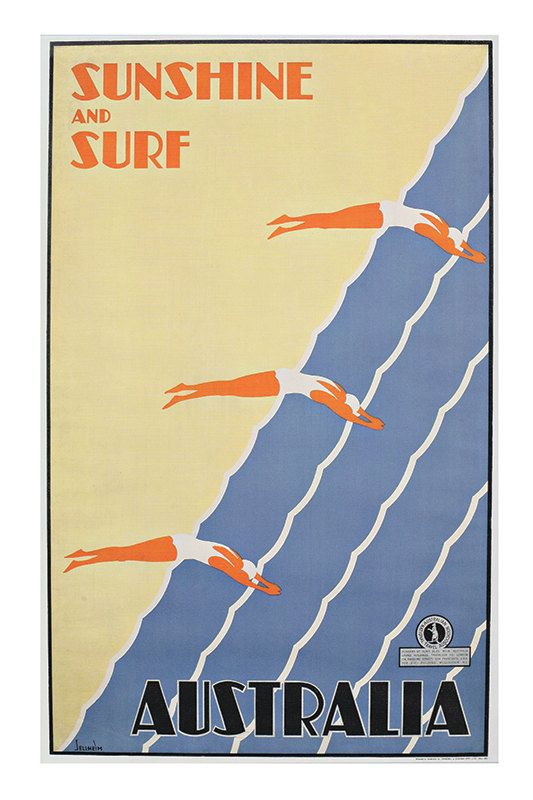 AUSTRALIA TRAVEL POSTER High Quality Giclee Print Ikea Ribba Size Beach Poster Surf Poster  ANY 3 PRINTS for the PRICE OF TWO: