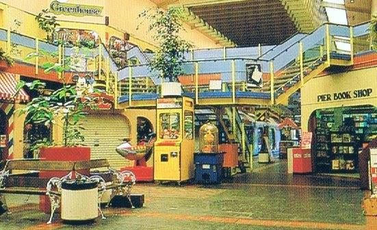 The Pier Mall, New Brighton. 1970's 80's. The ice cream parlor upstairs had the best Blue Lagoon ice cream.