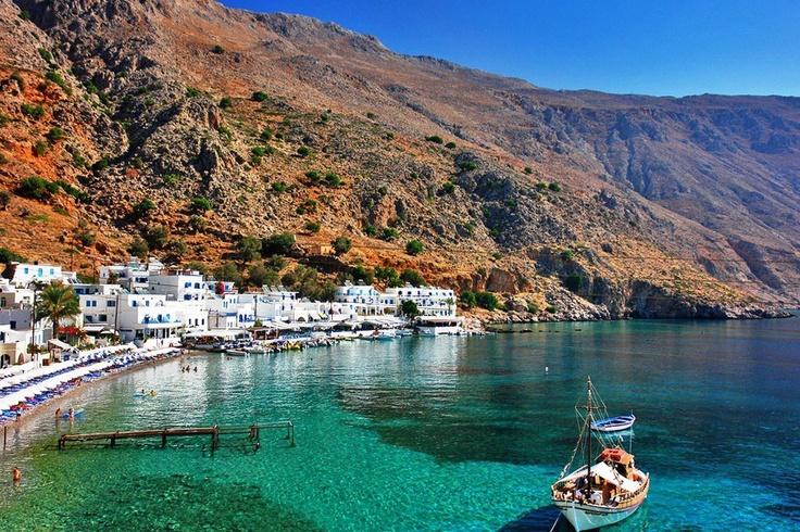 Crete island,Loutro village