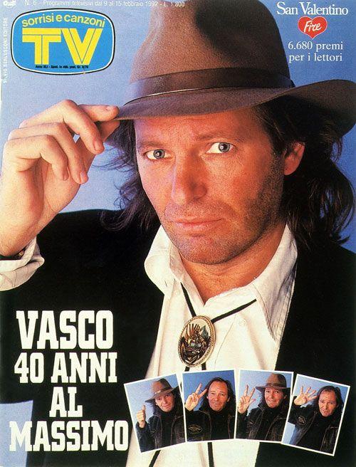 1992 il rocker Vasco Rossi compie 40 anni.