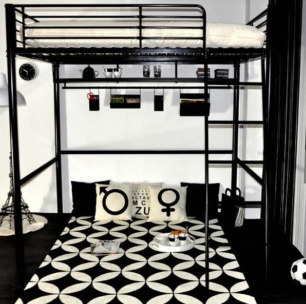 gain de place dans la chambre ado avec un lit mezzanine maison facile lit sommier lattes. Black Bedroom Furniture Sets. Home Design Ideas