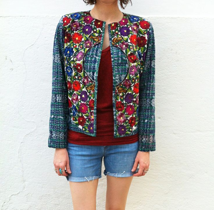 Embroidered floral jacket | Pile on the Prints