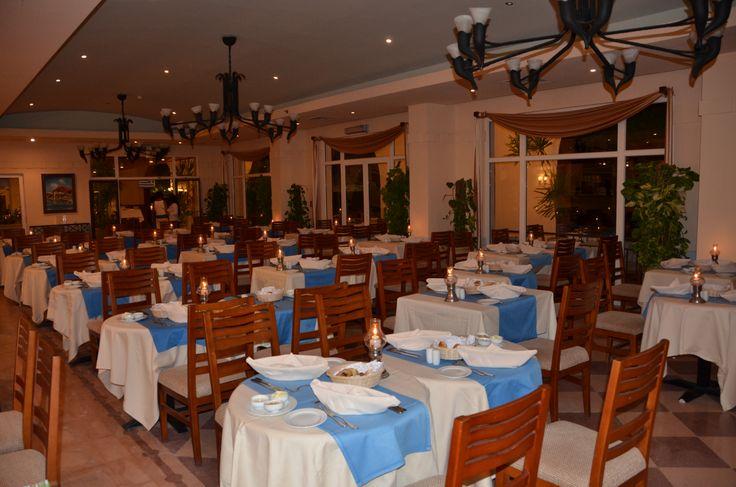 Greek buffet, restaurant impression.