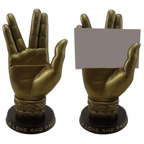 Star Trek Spock Hand Business Card Holder $34.99