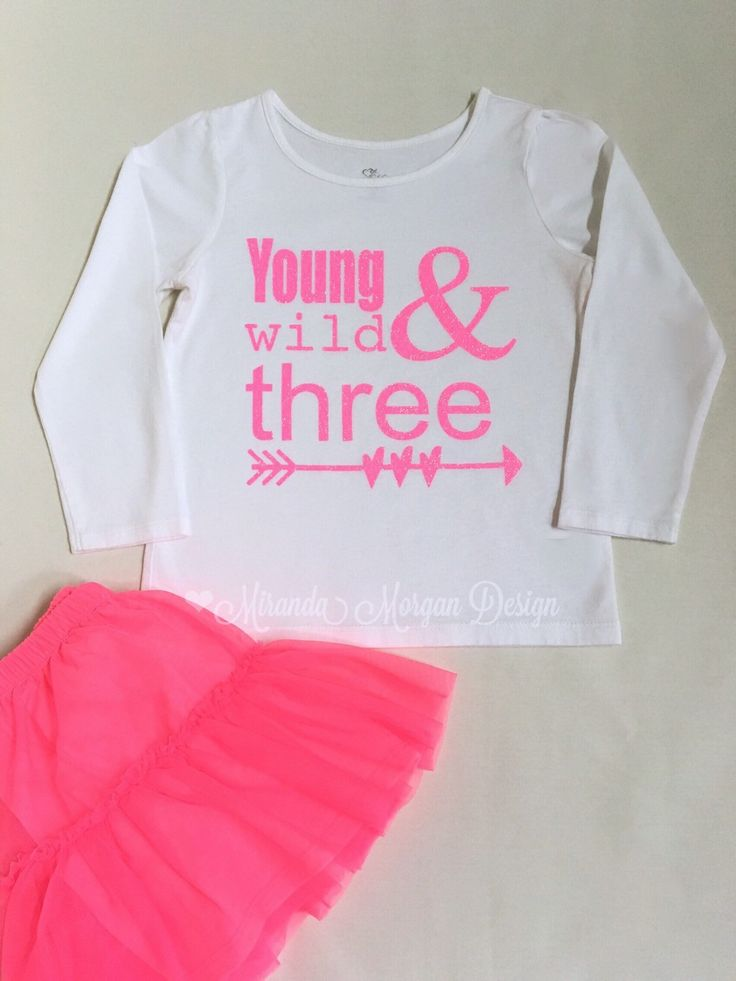 A personal favorite from my Etsy shop https://www.etsy.com/listing/264704461/todder-3rd-birthday-shirt-young-wild-and