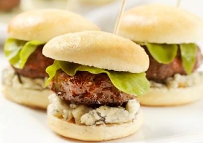 Mini hamburgers au bleu