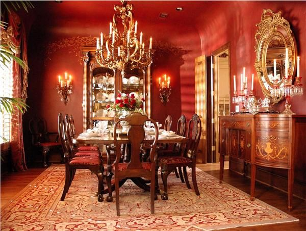 59 best Red Dining Rooms images on Pinterest Red dining rooms