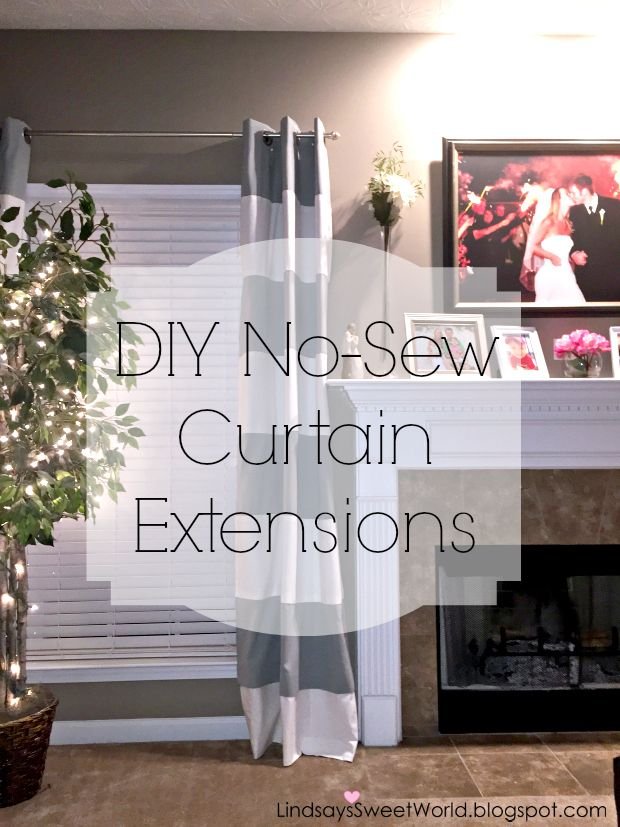 Lindsay's Sweet World: Step by step instructions to lengthen your curtains without sewing... it's so easy!