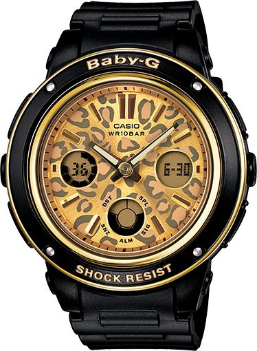 Baby-g shock watch in black I think I may need this. Black, animal print, and gold. Right up my alley.