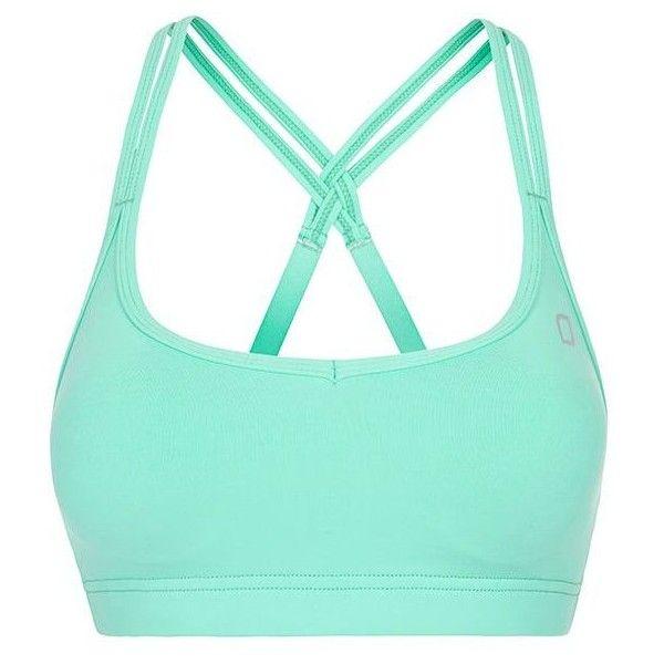 Lorna Jane Tarika bra ($57) found on Polyvore featuring activewear, sports bras, tops, sport, underwear, bras, green, sport & fitness, sports bra and lorna jane