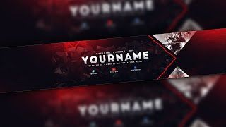 Download video: FREE GAMING BANNER TEMPLATE   BANNER EDITABLE .psd (Download Link)   ESPECIAL 2K