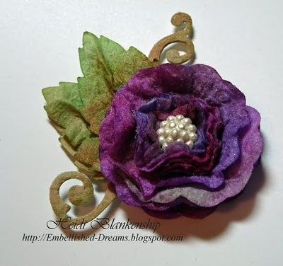 A Baby Wipe Flower http://embellished-dreams.blogspot.com/2010/05/handmade-flower-pin-flower.html