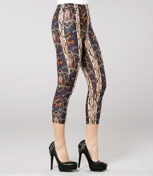 Anna Sui Wallpaper Cropped Leggings