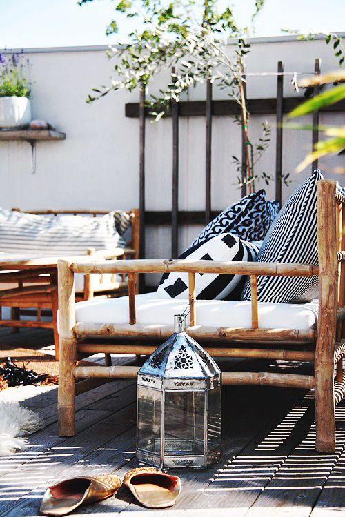cozy - knus plekje in de tuin - tuinbank