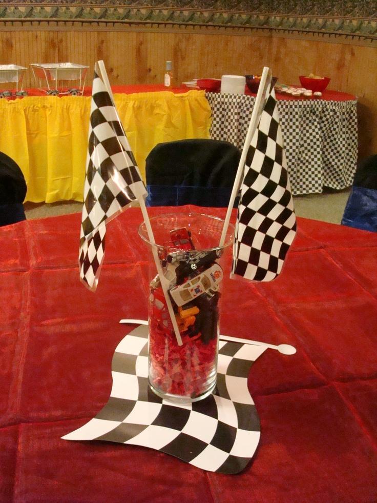 Car Theme Centerpiece Fiestas Infantiles Pinterest