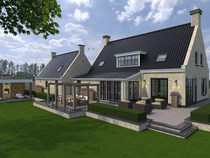 Ontwerp en visualisatie tuin nieuwbouw woning