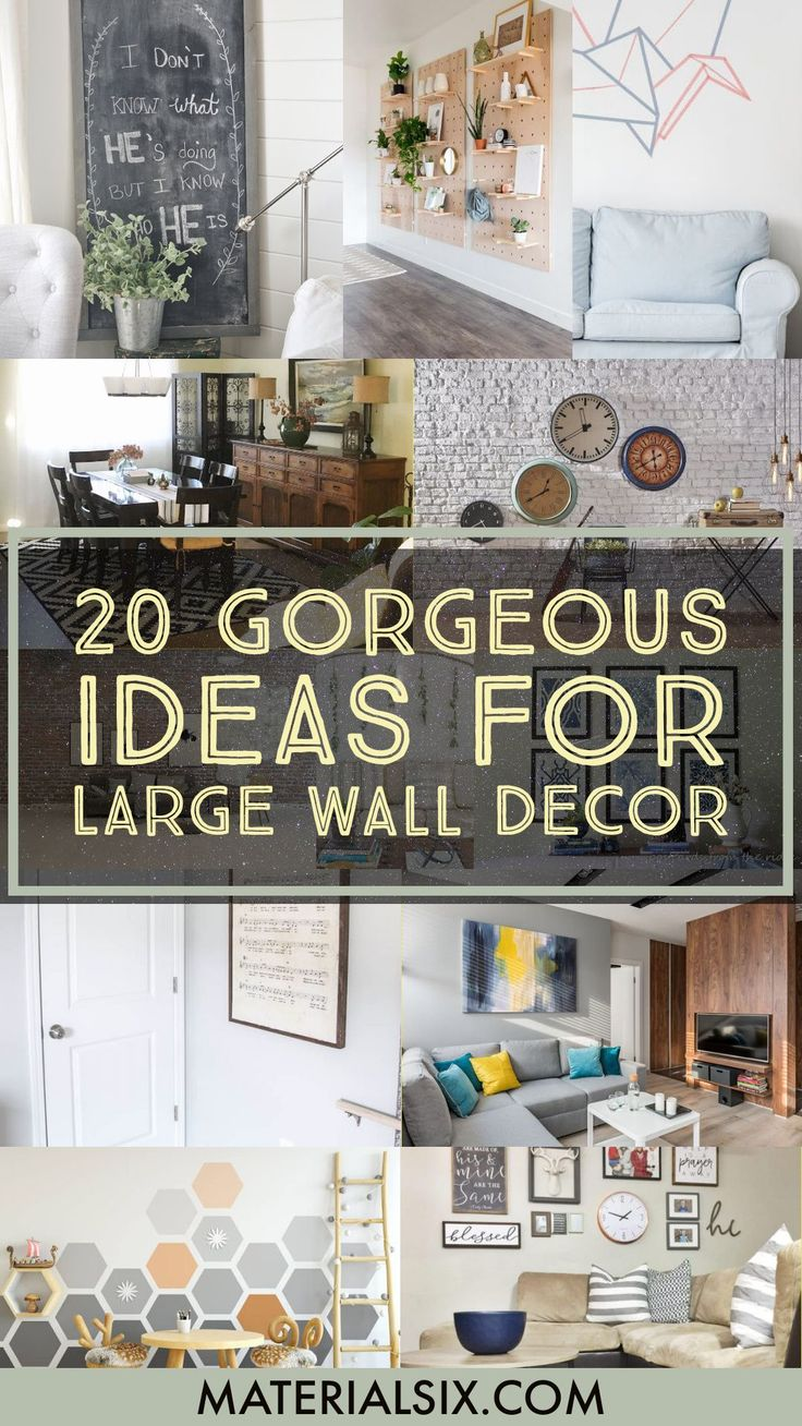 20 Gorgeous Ideas for Large Wall Decor   MaterialSix.com   Diy ...