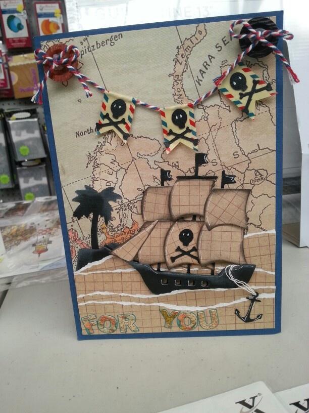 Xcut Build A Scene Pirate Ship Card