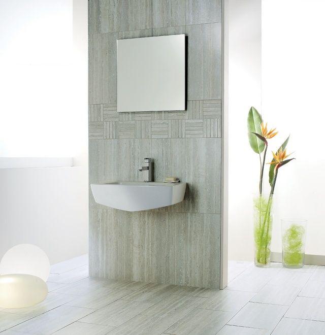 115 best SALLE DE BAIN images on Pinterest Soaking tubs, Bathroom - carrelage salle de bain petit carreaux