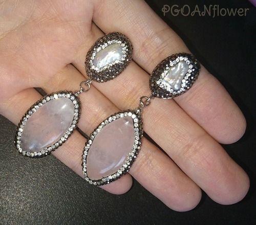 イヌサフラン | PGOAN flower | ポゴナフラワー 天然石 ローズクォーツ 天然シェル