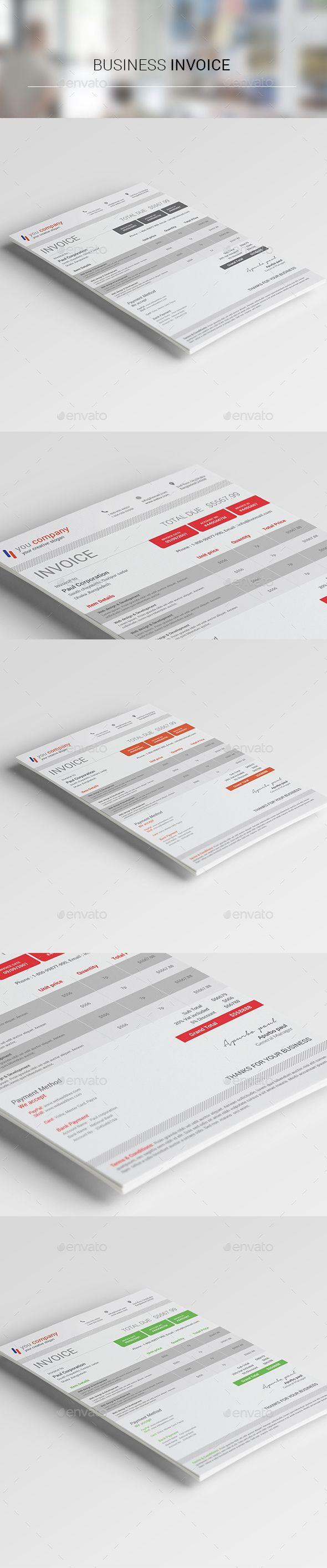 Corporate Business Invoice Template PSD #design Download: http://graphicriver.net/item/corporate-business-invoice02/14310021?ref=ksioks