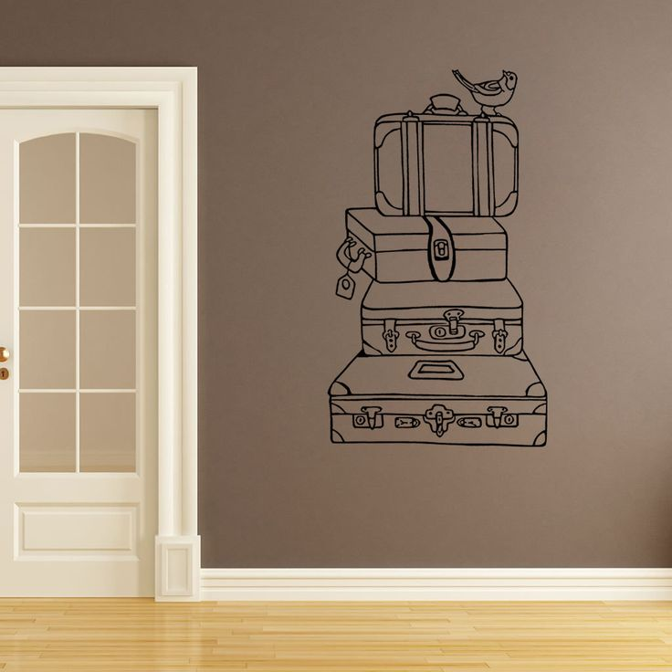 Wall Decal, Vintage Suitcases, Bathroom Wall Stickers, Bedroom Wall Decal,  Kidu0027s Bedroom