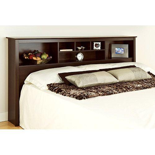 Edenvale King Storage Headboard Espresso Prepac Furniture
