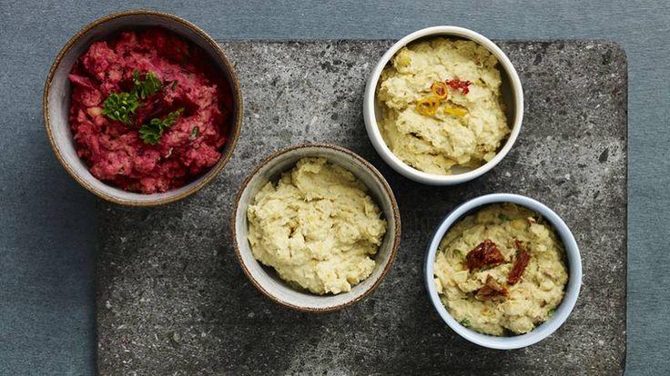 Hummus er en lækker mellemøstlig opskrift fra Bitz' Store Kur, se flere dips og saucer på mad.tv2.dk