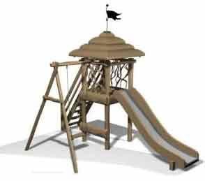 Деревянная детская площадка Classic 5 ( 6-14 лет )