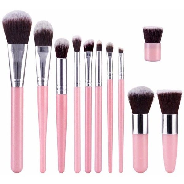 11Pcs/Kit Professional Soft Eye Shadow Brushes Set Foundation... ($9.42) ❤ liked on Polyvore featuring beauty products, makeup, makeup tools, makeup brushes, eyeshadow brushes, eyeshadow brush kit, shadow brush and eye shadow brush