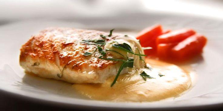 Torsk med sennepssaus/Cod with mustard sauce
