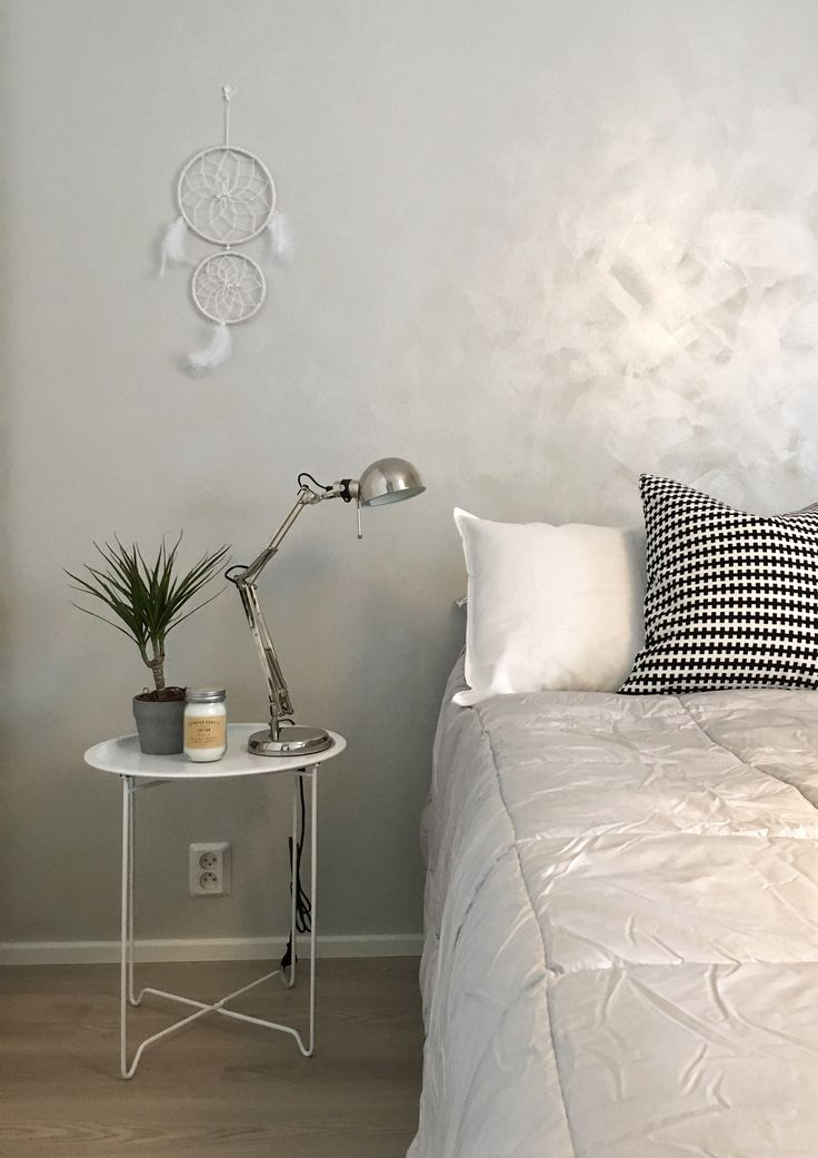 Ikea Forså lamp with grey and silver wall