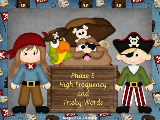Phase 5 HF and Tricky Words PowerPoint Show for IWB