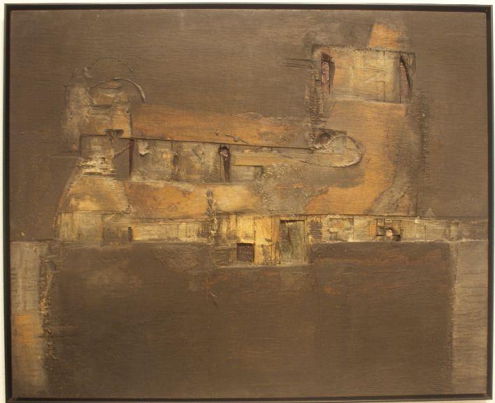 ESTRUCTURA VERDE Y NEGRA, 1961 Lucio Muñoz. Abstract art