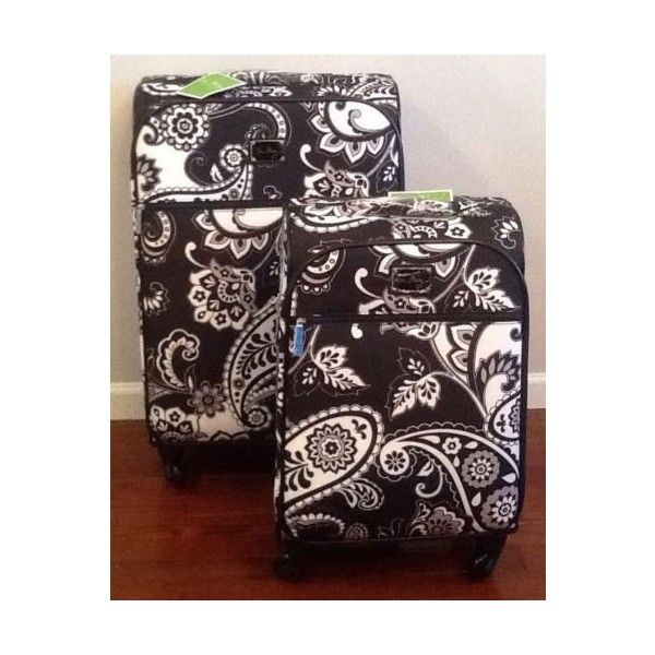 New Vera Bradley 22 27 Spinner Suitcase Set Midnight Paisley Luggage... via Polyvore featuring bags and luggage