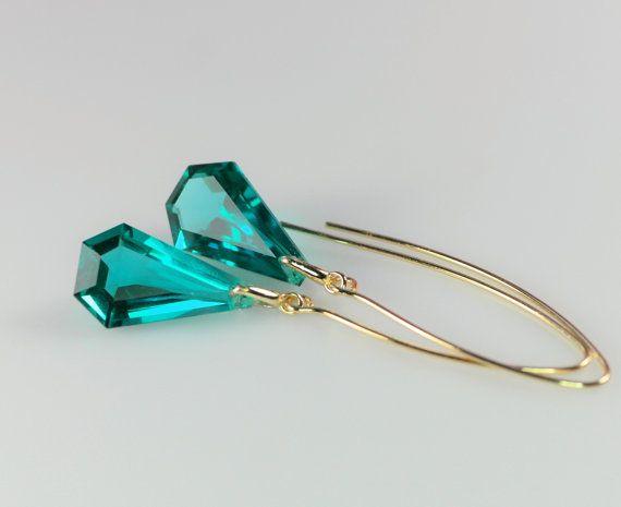 zilver goud vergulde oorbellen met groene door wwwjewelqueennl