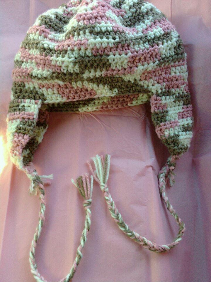 Crochet Womens Hat With Ear Flaps Pattern : crocheted hat with ear flaps Crochet Pinterest