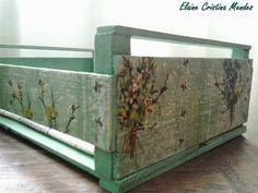 Transformando caixote de madeira em bandeja